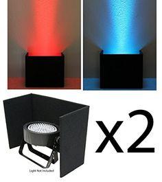 (2) DJ Lighting Universal Slimpar 38 56 64 Can LED Light ...