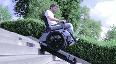This is Scalevo Wheelchair, a prototype that started as a student project in Summer 2014 at ETH Zürich and now gives immense hope to disabled people Zurich, Stair Climbing, Design Industrial, Mobility Aids, Mobility Scooters, Powered Wheelchair, Used Chairs, Stairs Architecture, Disabled People