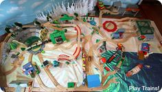 Valentine's Day in Vicarstown: a book-inspired wooden train activity from Play Trains! Train Activities, Friend Book, Wooden Train, Thomas The Train, Thomas And Friends, Train Layouts, 4th Of July, Valentines Day, Play