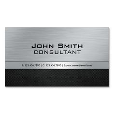 Professional Elegant Modern Silver Black Metal Business Cards. Make your own business card with this great design. All you need is to add your info to this template. Click the image to try it out!