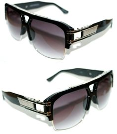 e4e3111688a Men s Women s 472 Design Sunglasses Grandmaster Four Hip Hop Black Silver  2060