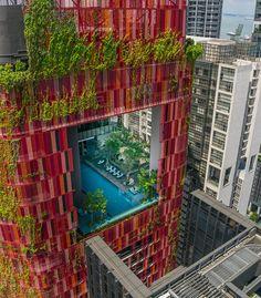 Отель Oasia в Сингапуре, WOHA