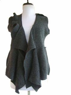 Asymmetric Vest by RebeccasArtCloset, construction trick