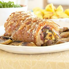 Stuffed pork loins with apple sauce Pork Dishes, Pork Loin, Kos, Stuffed Pork, Apple Sauce, Canning, Meat, Recipes, Pork Fillet