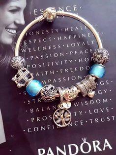 50% OFF!!! $239 Pandora Bangle Charm Bracelet Blue. Hot Sale!!! SKU: CB02106 - PANDORA Bracelet Ideas