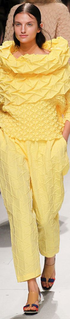Issy Miyake Spring 2015 RTW You think it would be comfortable ?