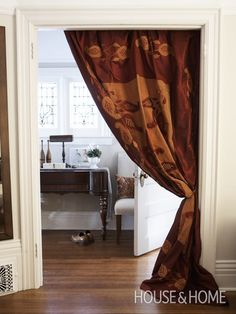 Blankets Used As Drapes | Photo Gallery: Blanket Display Ideas | House & Home | Photo by Tracy Shumate