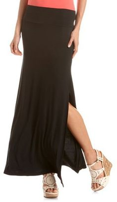 #Charlotte Russe          #Skirt                    #Double #Side #Slit #Maxi #Skirt: #Charlotte #Russe                           Double Side Slit Maxi Skirt: Charlotte Russe                                  http://www.seapai.com/product.aspx?PID=986875