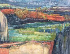 """Landscape Reflection, Mixed Media on Yupo, 20 X 26"""""""