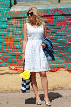 Lovely White Lace Summer Dress