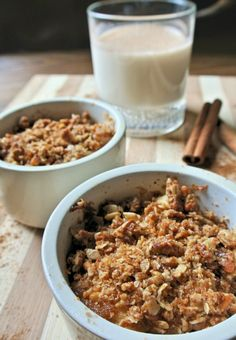 Single serve apple pie crumble that's also allow calorie ! Love skinny desserts
