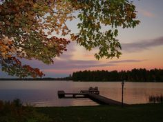 Lost Lake at Dusk!   St. Germain Vacation Rental - VRBO 497512 - 4 BR Northeast House in WI, Lost at Last - St Germain Lake Home, Tennis Court, Sand Shore