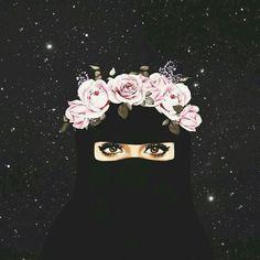 Meet your Posher, Laila Anime Muslim, Muslim Hijab, Mode Niqab, Sarra Art, Hijab Drawing, Niqab Fashion, Muslim Fashion, Islamic Cartoon, Girly M