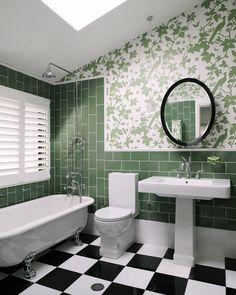 Mix & Match textures - green bathroom