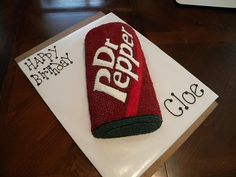 Dr. Pepper Bday cake!