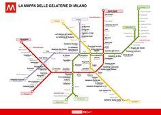 Le mappe tematiche di Milano diventano virali: ora esce la mappa delle gelaterie