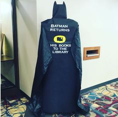 Batman Returns Library Display at Alverno College Library