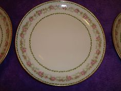 Vintage-1892-1900-Limoge-CH-FIELDS-GDA-9-dinner-plates-6-total-EXCELLENT