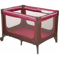 40bbb5f8389 Cosco Funsport Play Yard Chevron Raspberry Girls Baby for sale online