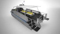 Bateau de support pour la plongée quadrimaran / hors-bord / à portance aérodynamique