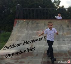 Outdoor movement opportunities - part of a post about Sensory Seekers in the vestibular sense (movement & balance). How to identify them and how to help.