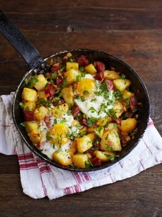 Perfect weekend breakfast idea - everything tastes better with chorizo! http://www.jamieoliver.com/recipes/pork-recipes/potato-amp-chorizo-breakfast-hash/
