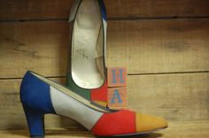 1970's Colorblock Mod Pumps  70's Airstep by LittleGhostVintage, $18.00