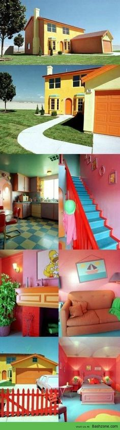 Simpsons House In Real Life. This is so cool!