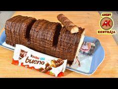 Óriás Kinder Bueno recept / Anzsy konyhája - YouTube Kinder Bueno Recipes, 2 Kind, Nutella, Banana Bread, Beef, Youtube, Food, Friends, Videos
