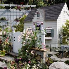 kids playhouse so cute by Lenkin Design Inc: Landscape and Garden Design