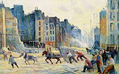 Percement de la rue de Réaumur - Maximilien Luce 1896 © Collection privée