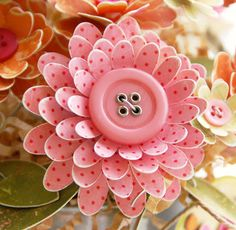 Cricut Sweet Treats & Walk in the Garden Cartridges - love this flower