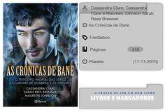 Livros e marcadores: As Crónicas de Bane de Cassandra Clare, Cassandra ...