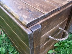 The Project Lady: Wood Storage Chest - Make your own!