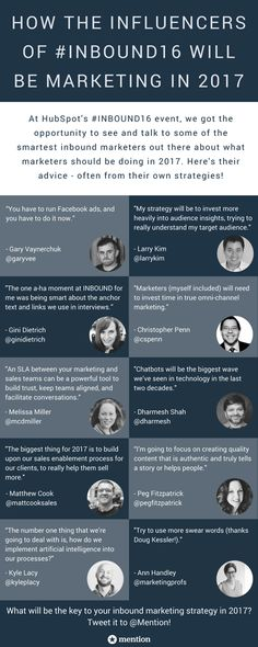 10 Marketing Insights for 2017 From Gary Vaynerchuk, Ann Handley & More [Infographic]