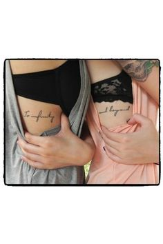 Tattoo for sisters // #ideas #twins #tatuajes #inspiration