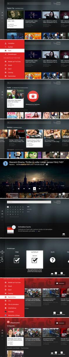 YouTube TV UI - www.youtube.com/tv