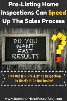 Pre-Listing Home Inspections Can Speed Up The Sales Process - http://www.rochesterrealestateblog.com/benefits-pre-listing-home-inspection/ via @KyleHiscockRE