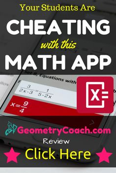 Wow! Though it is being used to cheat, what a powerful tool...  http://geometrycoach.com/students-cheating-math-app/