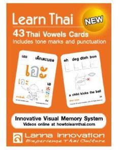 Learning Thai Language 43 Thai Vowel Cards Innovative Visual Memory System