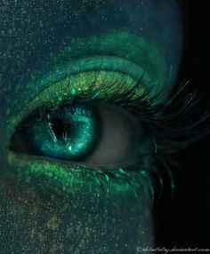 You know what would be sweet? Glow in the dark eye shadow and eye contacts!