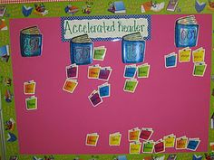 Finally! I wanted to do a bulletin board but didn't want to structure it around points earned:  Accelerated Reader the percentages are for percent of goal reached per 9 weeks