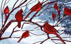 Vector Wallpaper Winter Foto #11 - 1920x1200