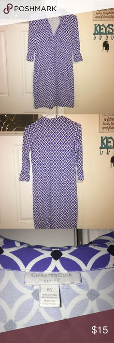 Charter Club Dress Size PS Super Cute Charter Club Dress Size PS Super Cute and Comfortable with Cuffed Sleeve Charter Club Dresses Midi