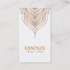 Rose-Gold On White Paisley Lace Business Card Beauty Business Cards, Gold Business Card, Business Card Design, Massage Gift Certificate, Paisley Design, Card Templates, Reiki, Card Ideas, Spiritual