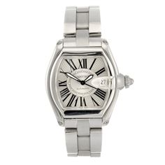 A gentleman's stainless steel automatic  Cartier Roadster bracelet watch