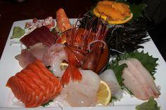 Aoyama Sushi Toronto - House special sashimi platter - a large variety of fresh seafood (serves 2 to 3) $55.00