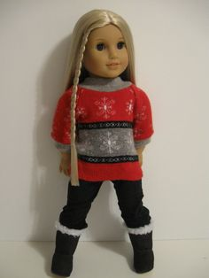 American Girl Doll clothes Chill Chaser Red by 123MULBERRYSTREET, $15.00