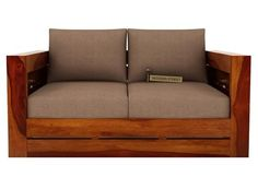 Buy Stegen 2 Seater Wooden Sofa (Honey Finish) Online in India - Wooden Street Sofa Set Online, Bedding Sets Online, Wooden Sofa Set, Wooden Street, Types Of Sofas, Bed Reviews, 2 Seater Sofa, Reclining Sofa, Leather Sofa