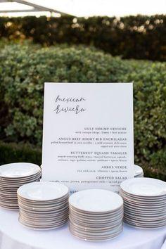 Black & White Menu from an Elegant Floral Urban Wedding on Karas Party Ideas | KarasPartyIdeas.com (8)